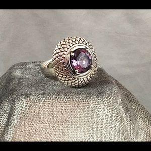 💎 VINTAGE Sterling Silver Amethyst Ring